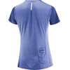 Salomon Agile Hardloopshirt korte mouwen Dames blauw